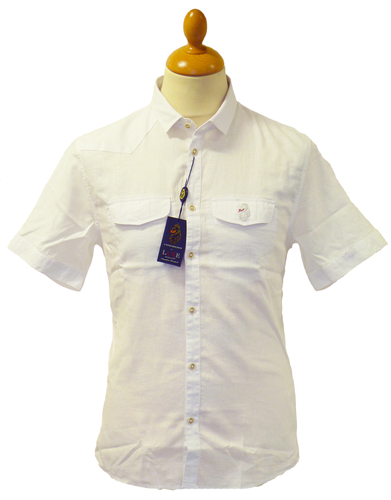 Junglist LUKE 1977 Retro Cotton Linen Mod Shirt