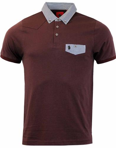 View LUKE 1977 Gingham Detailed Retro Mod SS Polo