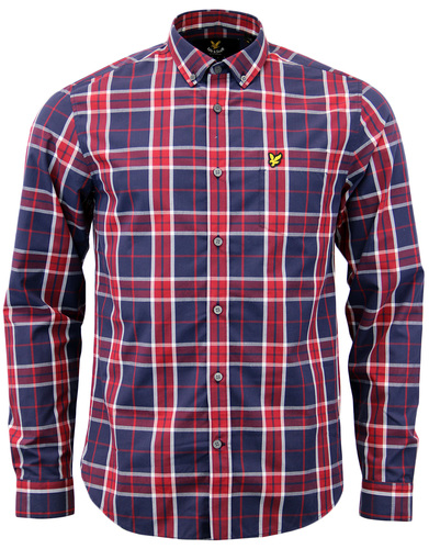 LYLE & SCOTT 60s Mod Multi Check Button Down Shirt