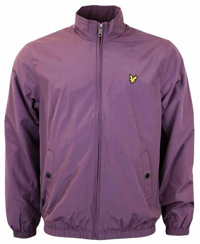 LYLE&SCOTT FUNNEL NECK ZIP THROUGH JACKET PLUM