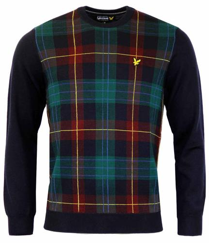 LYLE & SCOTT Retro Mod Tartan Intarsia Knit Jumper