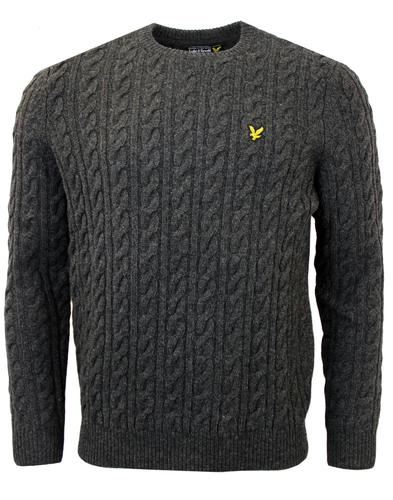 LYLE & SCOTT Retro Lambswool Cable Knit Jumper CM