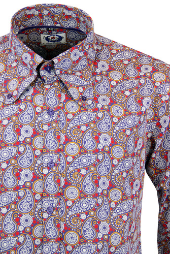 MADCAP ENGLAND RETRO 60S BEAGLE COLLAR SHIRT