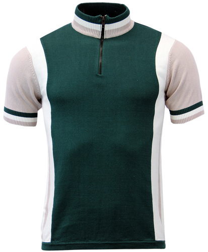 Hi-Wheel MADCAP Retro Mod Cycling Top GREEN/GREY