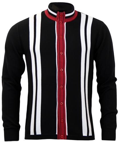 MADCAP ENGLAND RETRO MOD FUNNEL NECK CARDY BLACK