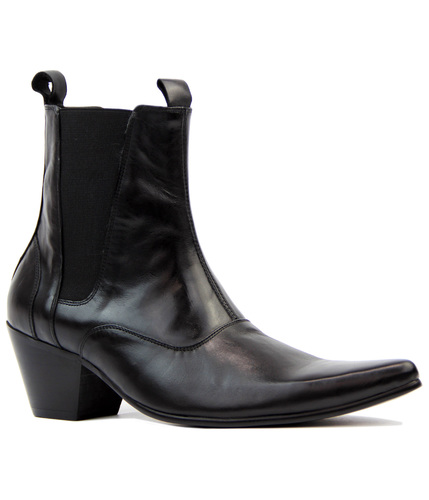 Outlaw MADCAP ENGLAND Mod Cuban Chelsea Boots (BL)