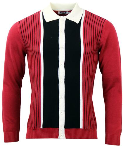MADCAP ENGLAND RETRO MOD PINSTRIPE MARRIOTT RED