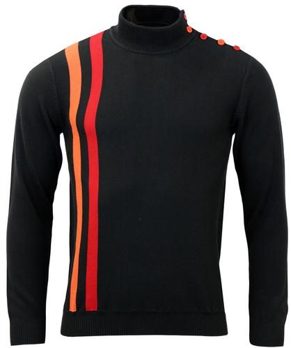 MADCAP ENGLAND RACING JUMPER BLACK MOD RETRO