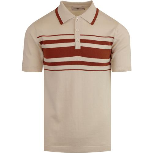 Aftershock MADCAP ENGLAND 60s Mod Stripe Knit Polo