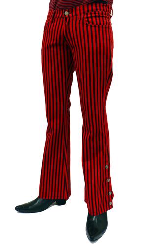 Hose Jeans Schlaghose Bootcut Militärisch 60er 70er Jahre Gestreift Mod Indie | eBay