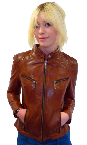 Marianne Retro Indie Leather Jacket by MADCAP (T)