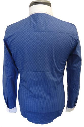 Piccadilly MADCAP Mod Mens Penny Collar Shirt B
