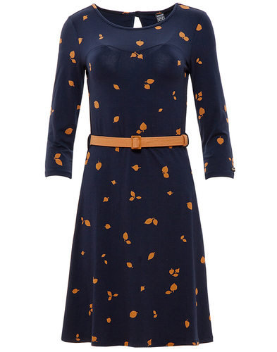 Beth MADEMOISELLE YEYE Retro Mod 60s Leaf Dress