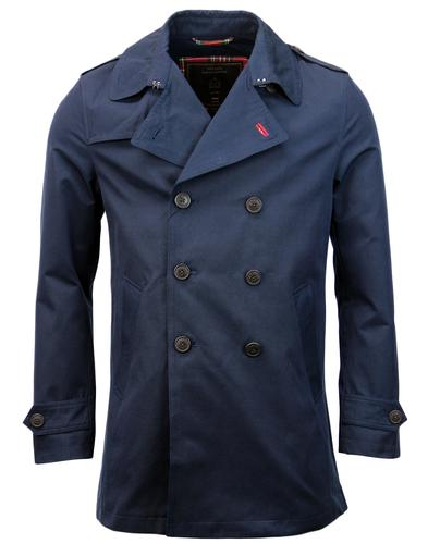 Dalton MERC Retro Mod Double Breasted Trench Coat