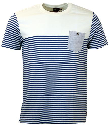 Reuben MERC Retro 60s Nautical Stripe Mod T-Shirt