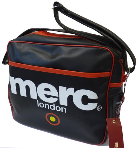 f2b54b88f1 AIRLINE  MERC RETRO MOD INDIE SHOULDER FLIGHT BAG (Black)