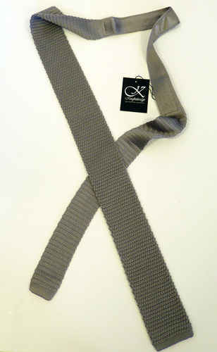 'Becker' - Mens Retro Sixties Mod Knitted Tie (S)