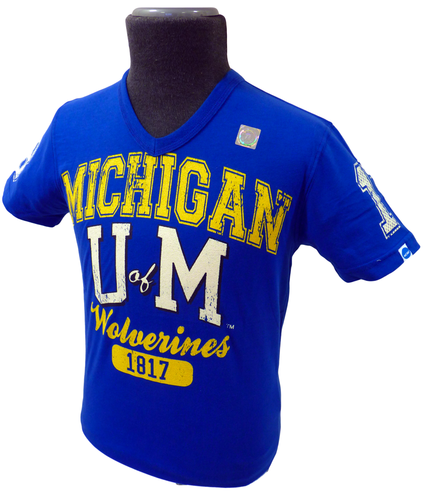 Michigan NCAA Collegiate Vintage V-Neck Tee B