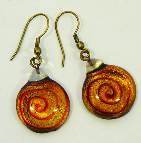 + NOMADS ORIGINALS Retro Sixties Spiral Earrings A