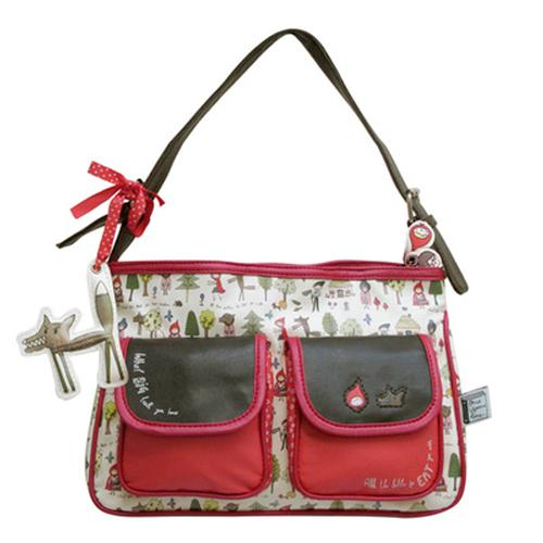 Once Upon a Time Red Riding Hood Retro Vintage Bag