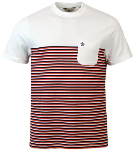 Ryda ORIGINAL PENGUIN Retro Mod Stripe Panel Tee