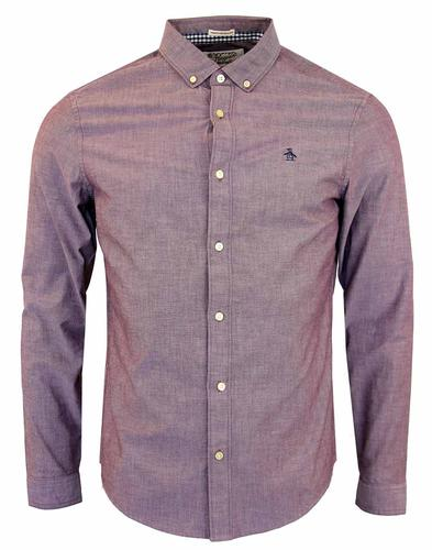 ORIGINAL PENGUIN BELAND OXFORD SHIRT PLUM