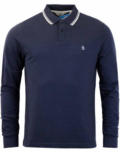 ORIGINAL PENGUIN DUO LONG SLEEVE POLO DARK SAPPHIR