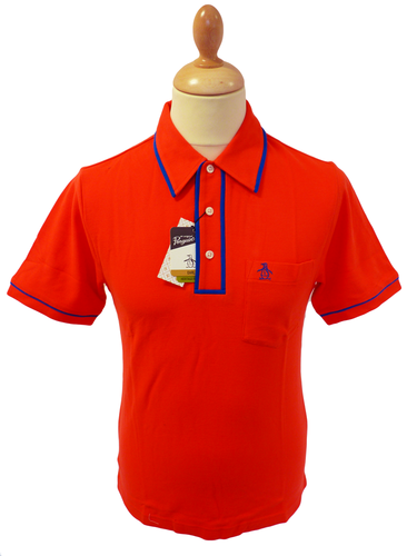 The Earl ORIGINAL PENGUIN Mens Retro Mod Polo (RB)