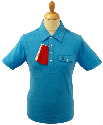 Jack ORIGINAL PENGUIN Mens Retro Mod Slub Polo BB