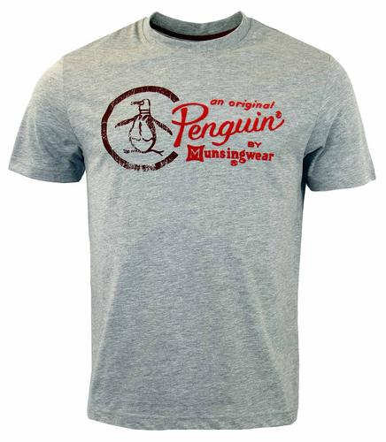 ORIGINAL PENGUIN LOGO RAIN HEATHER TEE