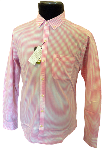 Gingham ORIGINAL PENGUIN Mens Retro Mod Shirt (P)