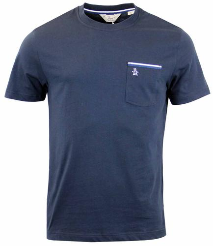 ORIGINAL PENGUIN TAPE TIPPED POCKET TEE DARK SAPPH