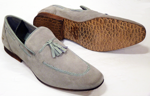 Grey Suede Mens Slip On Shoes