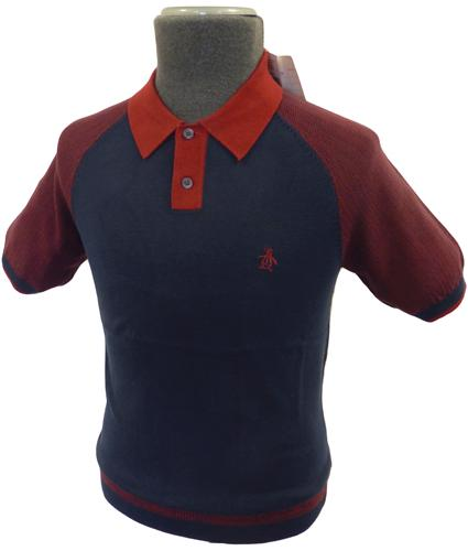 ORIGINAL PENGUIN Retro Mod Pattern Sleeve Polo BR
