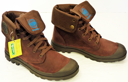 dc373d9f037 PALLADIUM Baggy Leather | Retro Leather Gusset Mens Indie Mod Boots