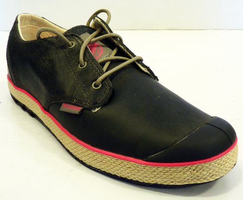 Slim Oxford Leather Shoes Palladium Retro Indie 70s Womens Trainers