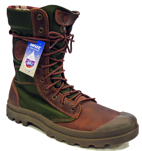 Palladium Pampa Tactical Boot in Brown/Olive | Retro Mens Boots