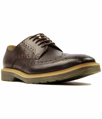 PAOLO VANDINI NAPLEY LEATHER RETRO BROWN BROGUES