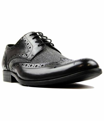 PAOLO VANDINI NAUGHTON RETRO BROGUES BLACK