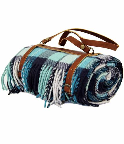 PENDLETON BLUE TARTAN THROW