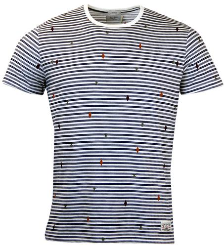 Antigua PEPE JEANS Engineered Stripe Op Art Tee