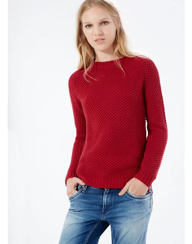Camelia PEPE JEANS Retro 70s Waffle Knit Jumper
