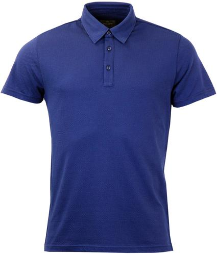 Lindley PETER WERTH Retro Mod Pick Stitch Polo