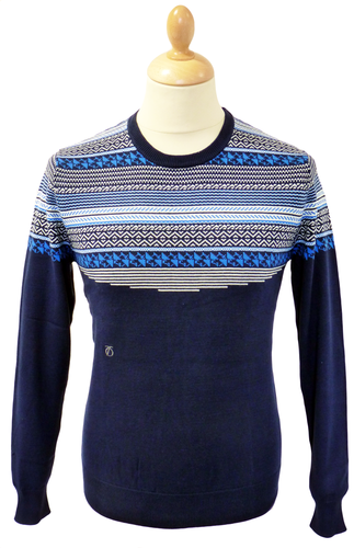 PETER WERTH RETRO FAIRISLE JUMPER SWEATER XMAS