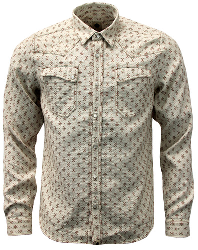Bowers PRETTY GREEN Retro Indie Mens Western Shirt
