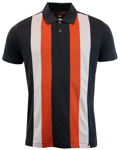 Brindle PRETTY GREEN 1960s Mod Stripe Panel Polo