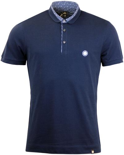 Carver PRETTY GREEN Ditsy Floral Penny Collar Polo