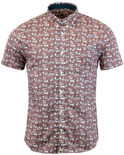 Leaside PRETTY GREEN Paisley Retro Mod SS Shirt