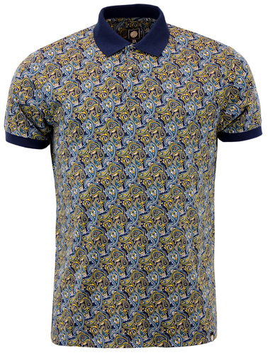 Stretford PRETTY GREEN Retro 60s Mod Paisley Polo