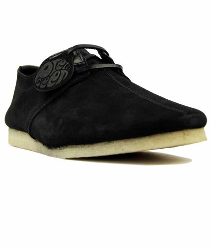 PRETTY GREEN FLAT SEAM CASUAL RETRO SHOES